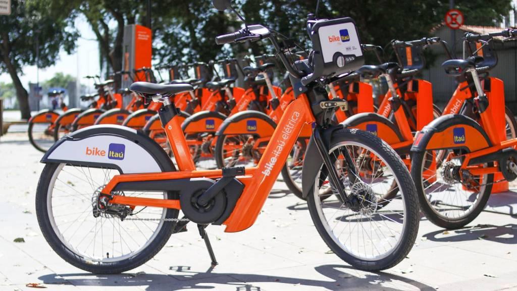 Bicicletas compartilhadas do Itaú, com gestão pela Tembici (Divulgação)
