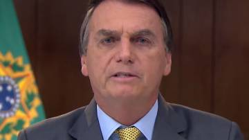 Presidente Bolsonaro em pronunciamento em rede nacional sobre pandemia no dia 23 de março de 2021