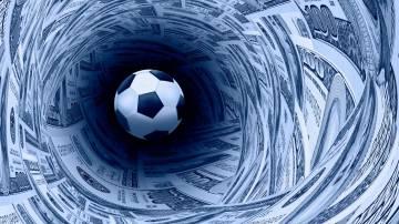 futebol bola dinheiro dólar finanças