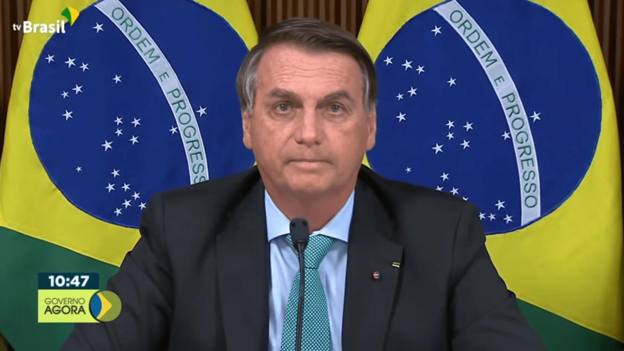 Bolsonaro na Cúpula do Clima, em 22 de abril de 2021