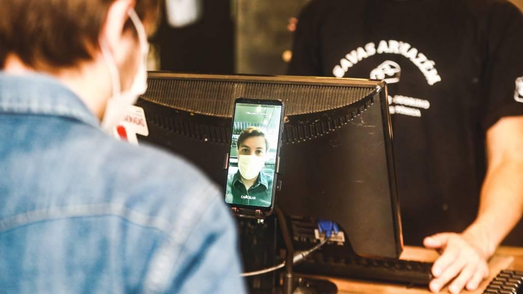 Tecnologia de reconhecimento facial da Payface (Divulgação)