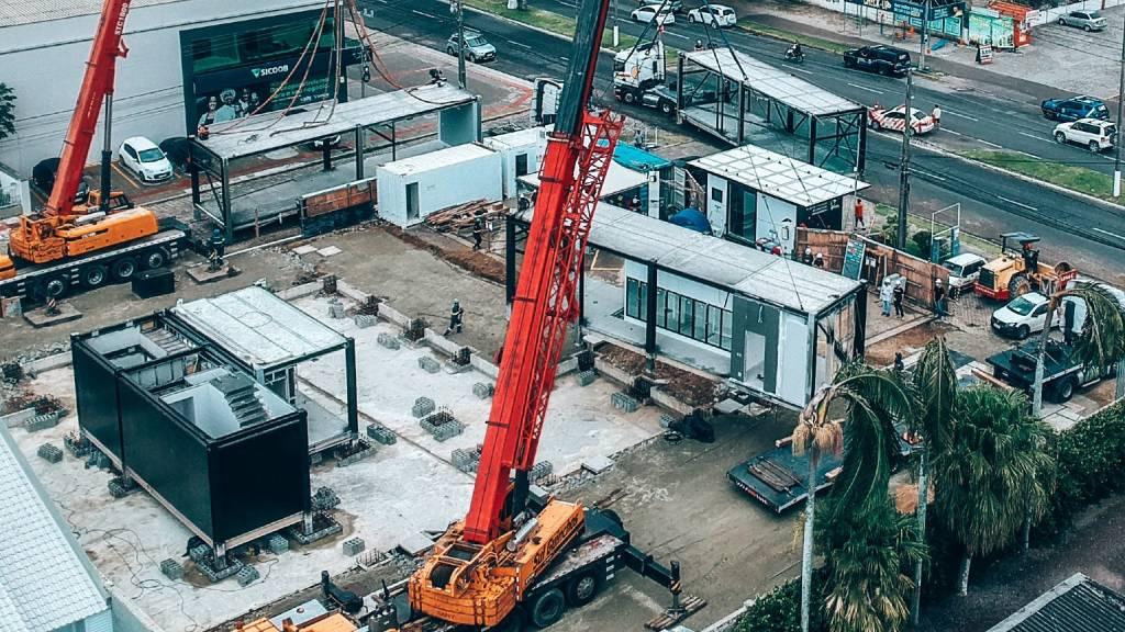 Edifício Level, um dos projetos da Brasil ao Cubo, em fase de construção (Reprodução)