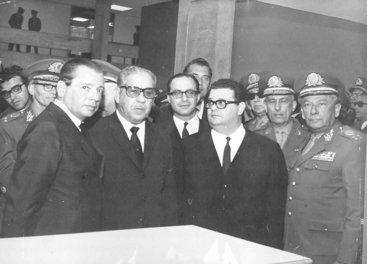 Delfim Netto com Costa e Silva