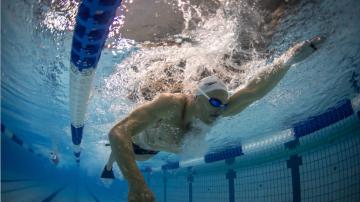 Fernando Scheffer, nadador e atleta olímpico do Time Brasil, após o treino na cidade de Sagamihara, Tóquio (Jonne Roriz/COB)