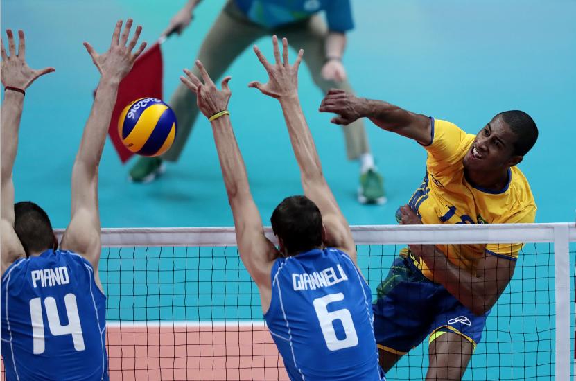 Ricardo Lucarreli, jogador da seleção brasileira de vôlei (Alexandre Loureiro/Exemplus/COB)