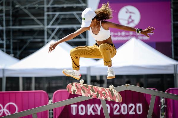 Primeiro treino de Rayssa Leal no Ariake Urban Sports Park, em Tóquio (Gaspar Nóbrega/COB)