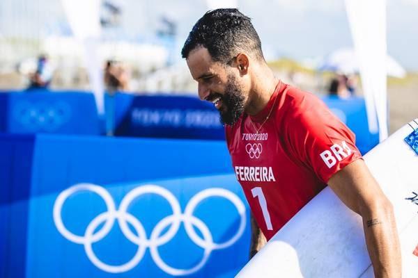 Jogos Olímpicos Tóquio 2020: Ítalo Ferreira surfa em Tsurigasaki Surfing Beach (Miriam Jeske/COB)