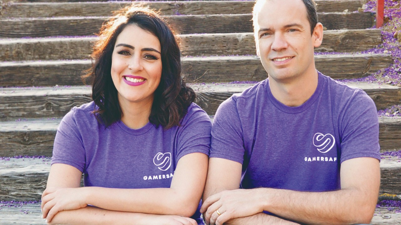 Maria Oliveira e Rodrigo Tamellini, fundadores da GamerSafer (Divulgação)