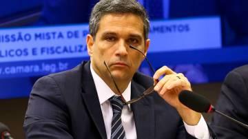 O presidente do Banco Central, Roberto Campos Neto, durante audiência pública conjunta das comissões de Assuntos Econômicos e comissão Mista de Orçamento.