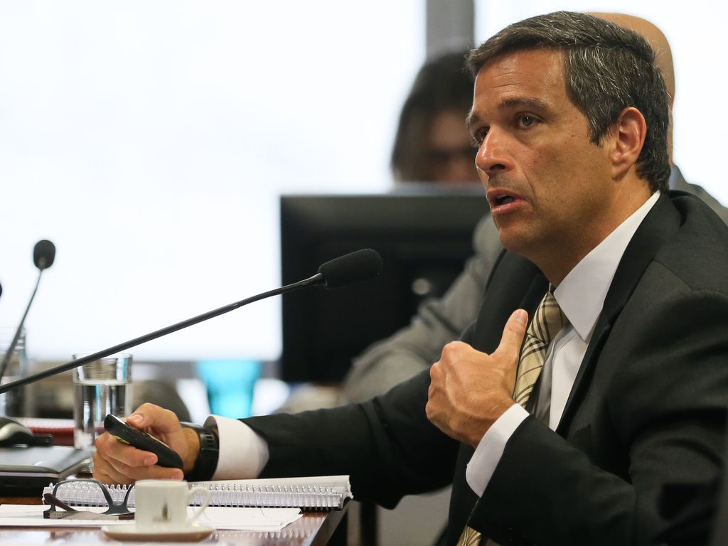 O presidente do Banco Central, Roberto Campos Neto, participa de audiência pública na Comissão de Assuntos Econômicos do Senado
