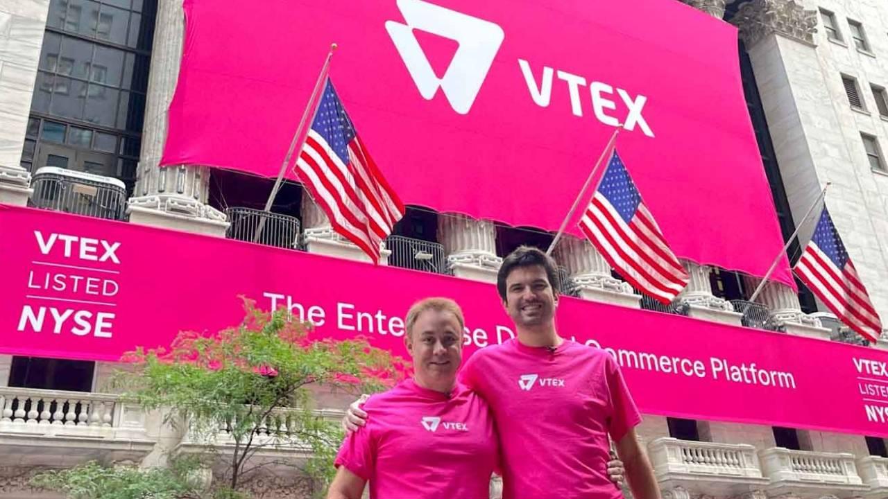 Geraldo Thomaz Jr. e Mariano Gomide de Faria, cofundadores da VTEX (Reprodução/VTEX Blog)