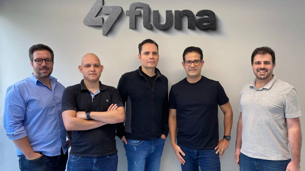 Paulo Cerqueira, Alysson Nazareth, Bruno Pfeilsticker, Flávio Araújo e Filipe Drumond, da Fluna (Divulgação)
