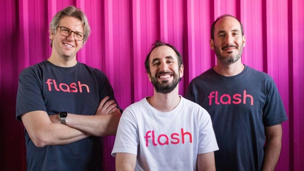 Ricardo Salem, Guilherme Lane e Pedro Lane, da Flash (Divulgação)