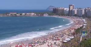 Manifestação pró-Bolsonaro no Rio (Reprodução/GloboNews)