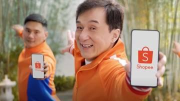 Jackie Chan em comercial da Shopee (Shopee Oficial/YouTube/Reprodução)