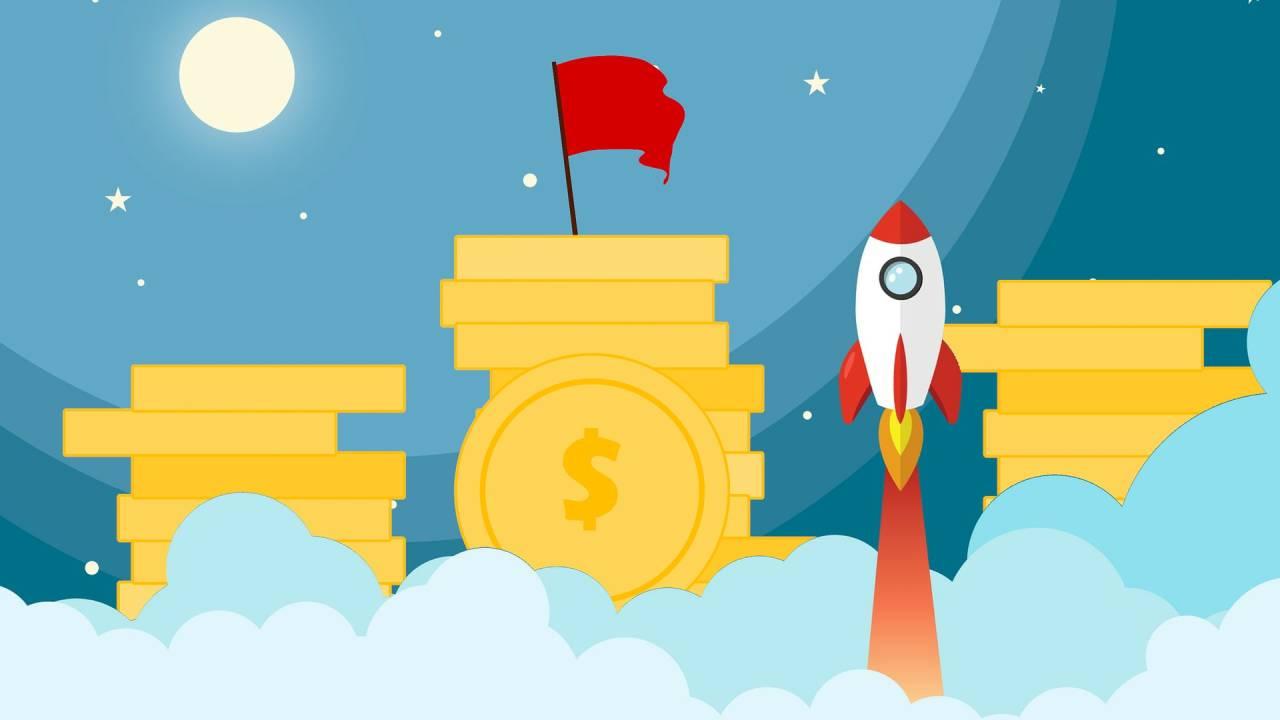 Foguete e dinheiro; startups